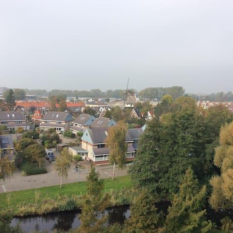 Amplia habitacion en vivienda con excelente vista - Alkmaar - Wohnung