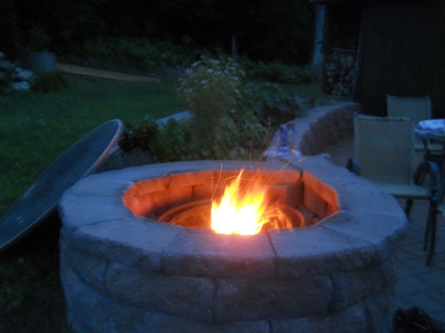 A pre built  fire for your comfort!