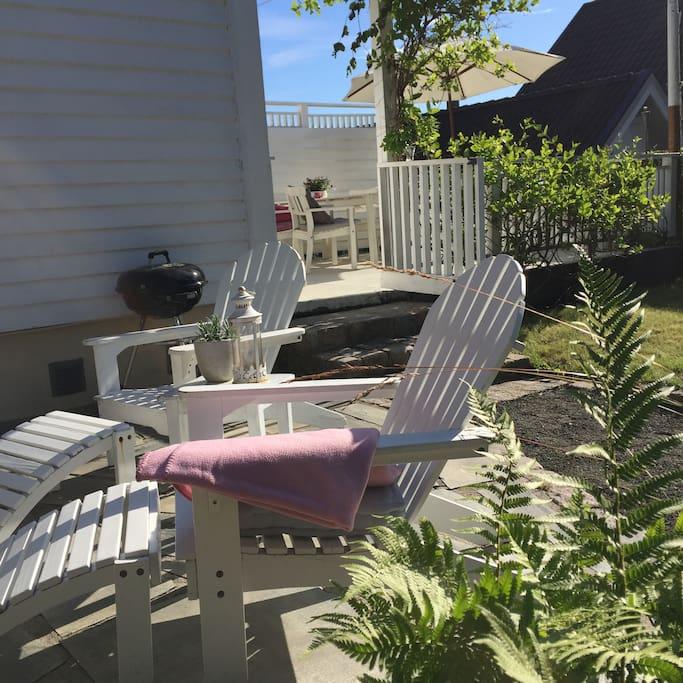 Terrasse for avslapping