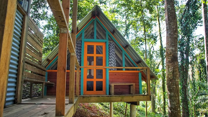 Tree Cabin/Private Bathroom -Steps From Great Surf