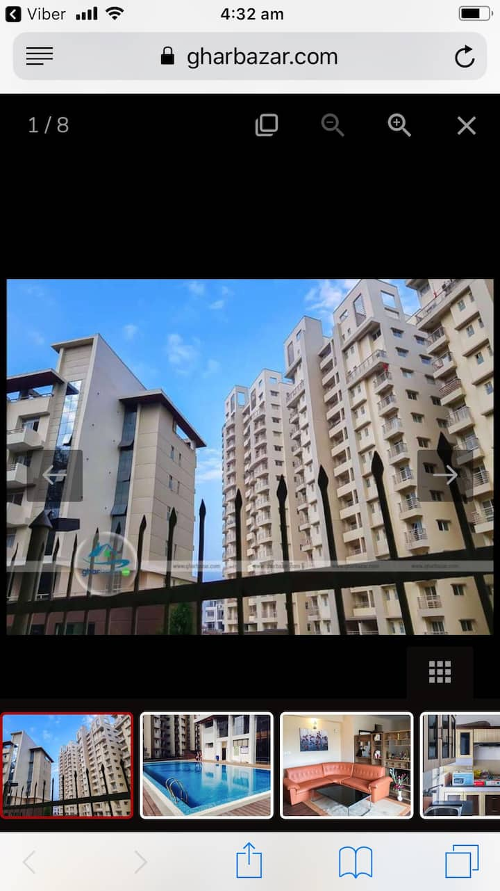 This apartment is located at a peaceful area of Hattiban, Lalitpur. it is located at Cityscape Apartments, Hattiban. The total area of apartment is 1245 sq. ft. It is a fully furnished apartment that consist of 2 bedrooms, 1 kitchen, 1 living room with AC