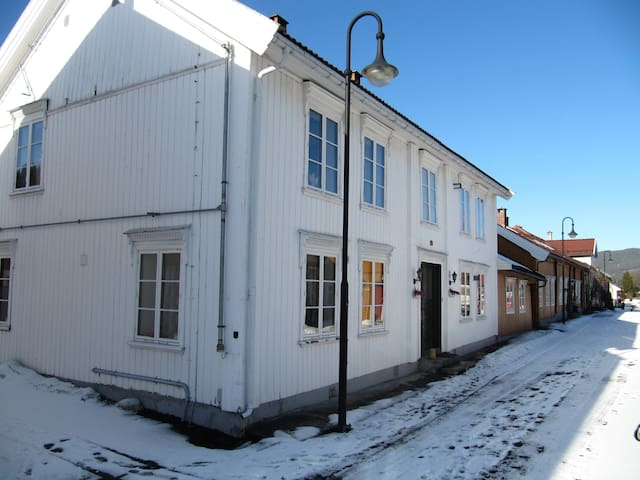 Restaurert liten leilighet i gammelt hus, sentralt