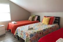 Bedroom 5 With Three Twin Beds