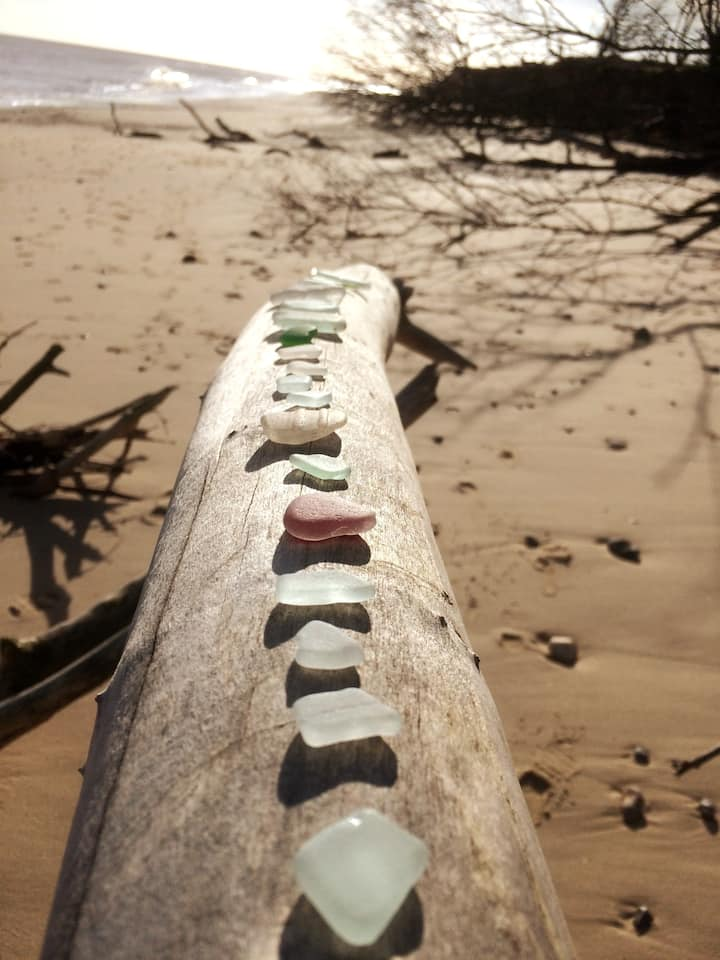 Seaglass collection at Covehithe