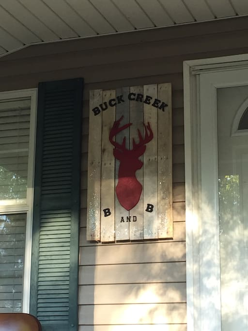 Welcome to Buck Creek Bed and Breakfast.