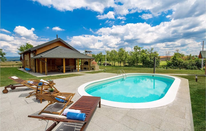 Awesome home in Otocac with Outdoor swimming pool and 2 Bedrooms