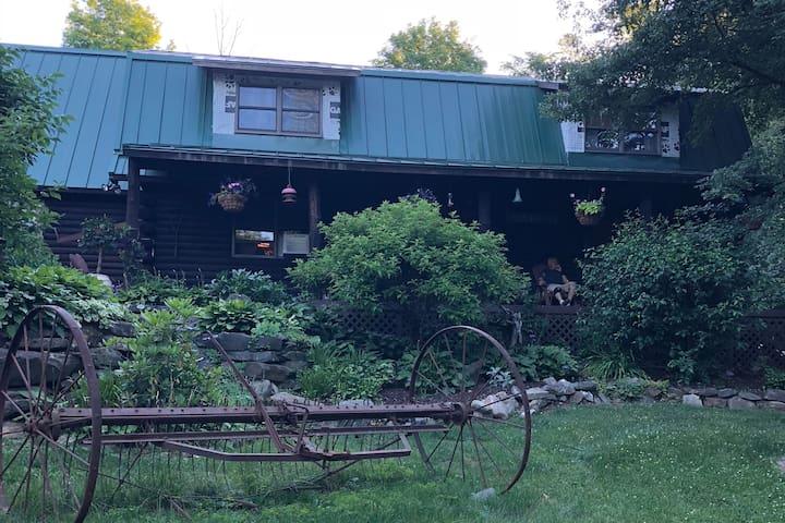 Cabin Room Queen Bed in Log Home w/ Outdoor Living