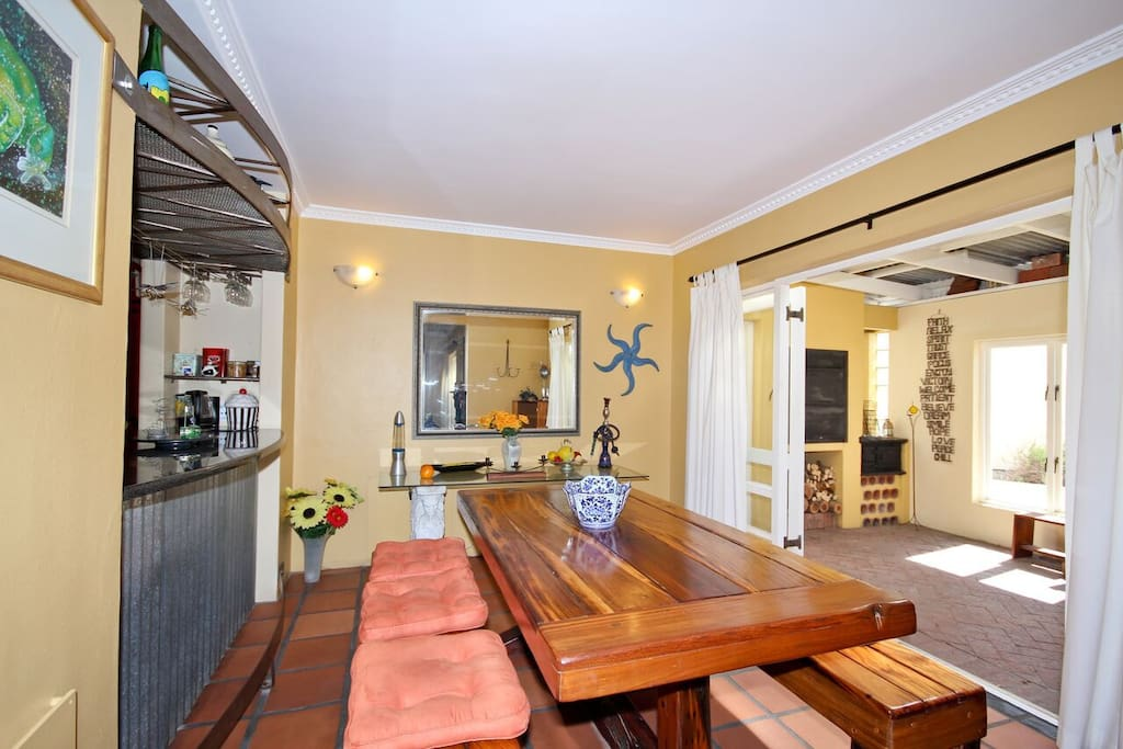 Dining room and covered braai room