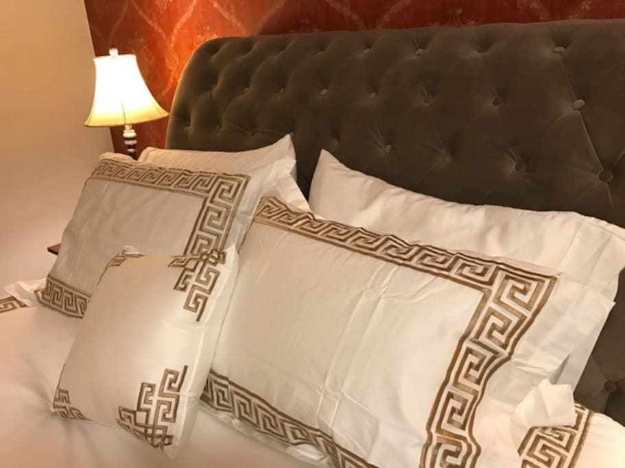 COMFORTABLE cushioned bed in Inspire Room