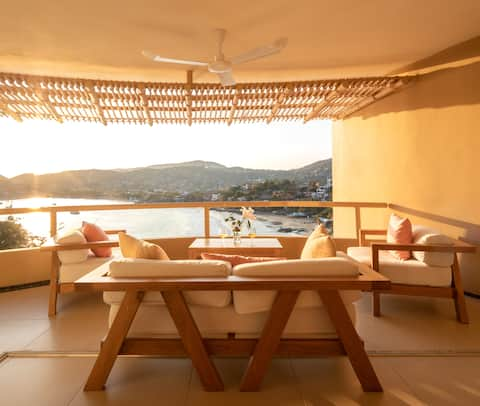 Desfrute do pôr do sol no Romantic Luxury 1BR Condo