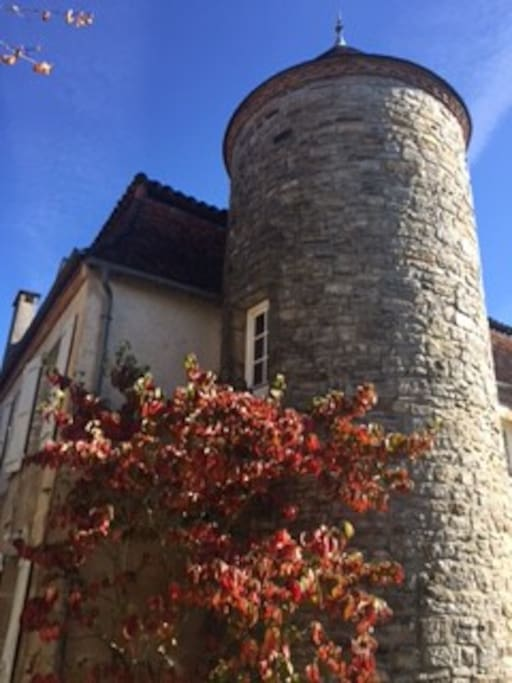 tower on the main house opposite the Gite