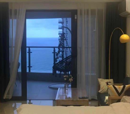 1807高层一线海景三床北欧大房超大阳台十里银滩敏捷黄金海岸(随云)