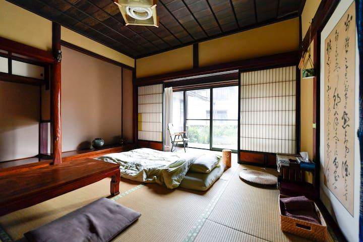 You can sleep with futon mattress.