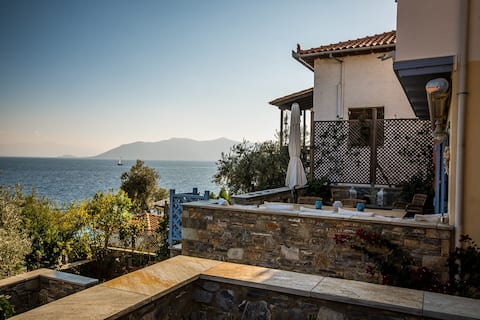 Villa in front of the sea with private beach
