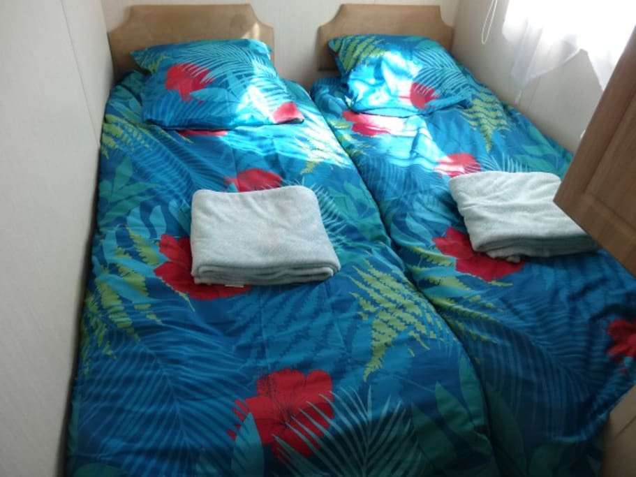 la chambre 1 avec 2 lits simples