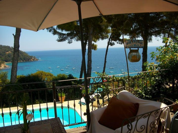 Villa belle vue mer, plage à pieds et piscine