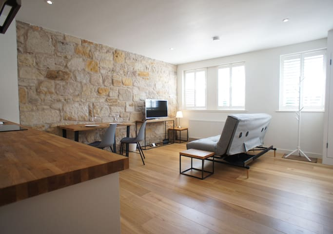 Wonderfully light and airy open plan living space, with free unlimited WI-FI and smart television