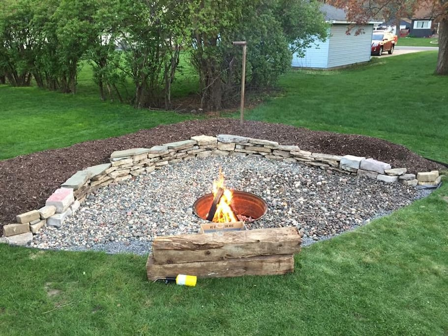 If the weather's nice, enjoy our fire pit!