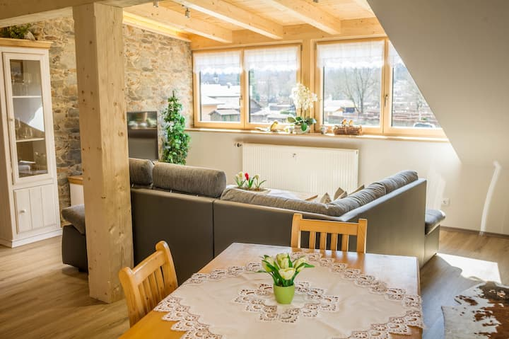 Cosy Apartment Bergpanorama with Balcony, Mountain View & Wi-FI; Parking Available, Pets Allowed
