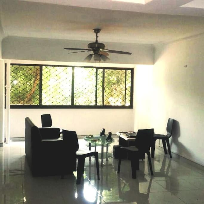 The living room, spacious and simple!