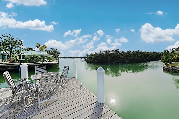 Sun-Soaked Canal-Front Home w/ Private Dock & Pool
