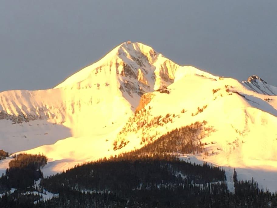 Lone Mountain Peak at Big Sky resort