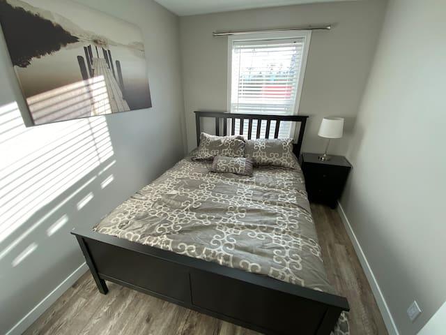 Bedroom #3 queen bed with closet