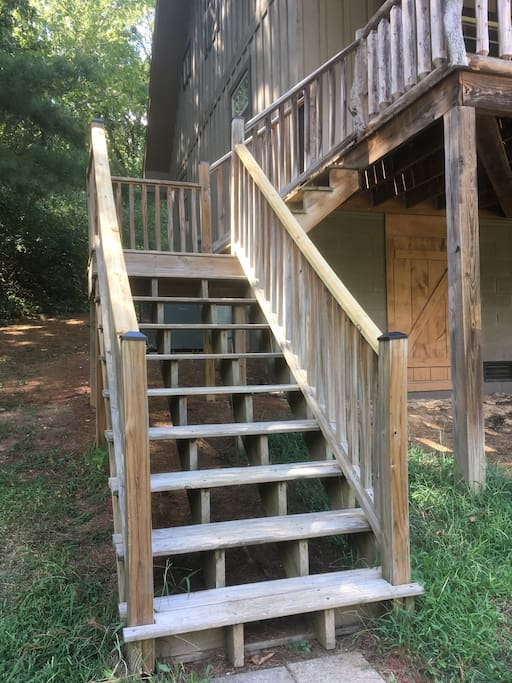 Stairs to the cabin