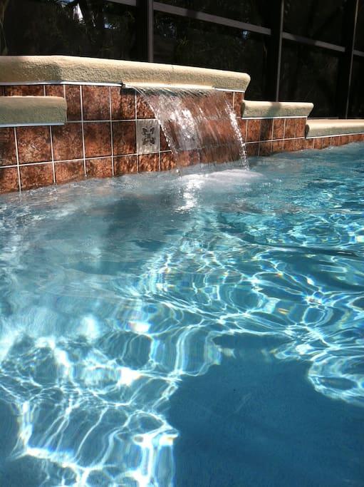 Beautiful, large saltwater pool