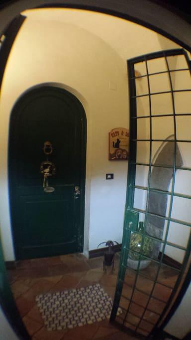 l'ingresso alla suite