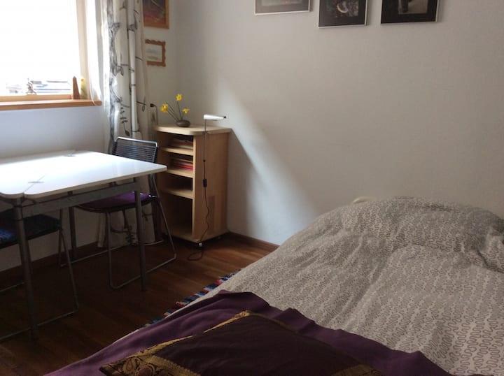 In rust en ruimte nog een heerlijk EEN persoonsbed