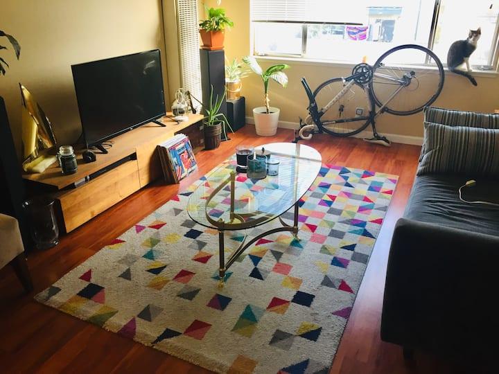 Lake Merritt comfy room in 2bdr apartment