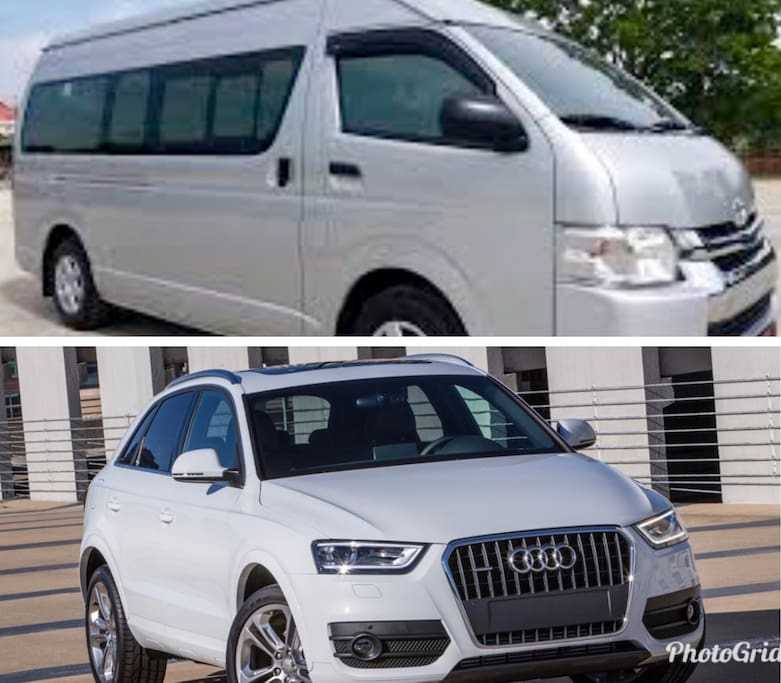 Audi Q3 or Toyota minibus for over 6 guests FREE With driver for your stay.  Only way to see Chiangmai!