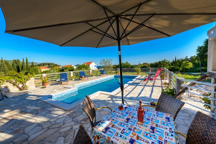 This charming oasis with private pool and gardens gives real meaning to the words private holiday