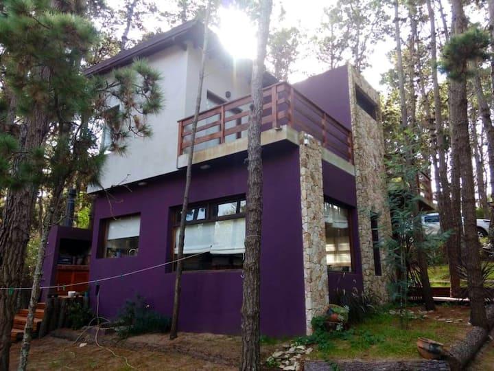 Casa moderna para 5 en pleno bosque