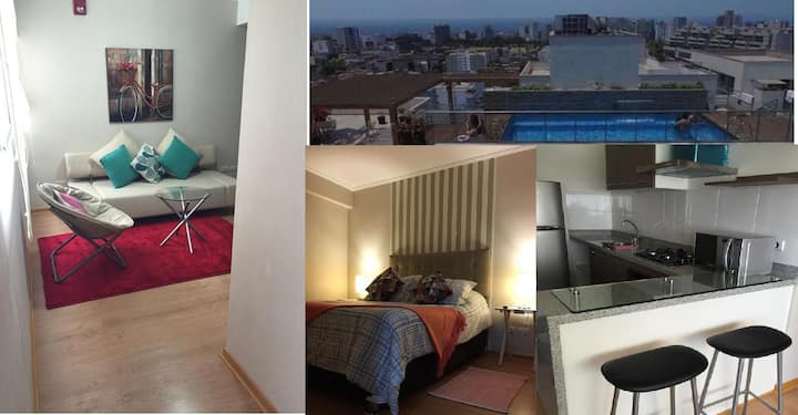Apartment  in Lima with Kitchen. Office. Laundry