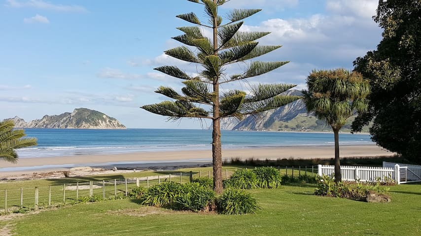 Large Kiwi Bach With Beach View