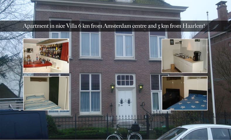 Cozy Apartment in Villa 6km from Amsterdam center! - Halfweg - Selveierleilighet