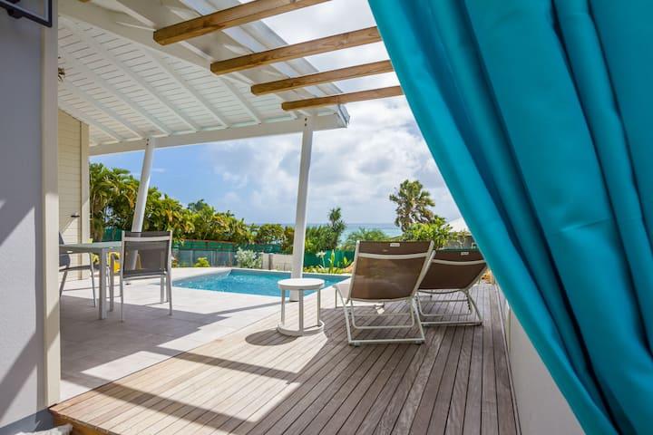 villa Corail 2 pers vue mer, piscine, jardin