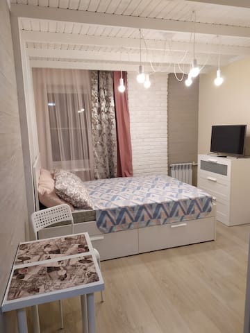 Cosy Studio nearby Korean Consulate. Уютная Студия