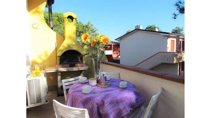 Appartamento con A/C-Terrazza - Barbecue - Piscina