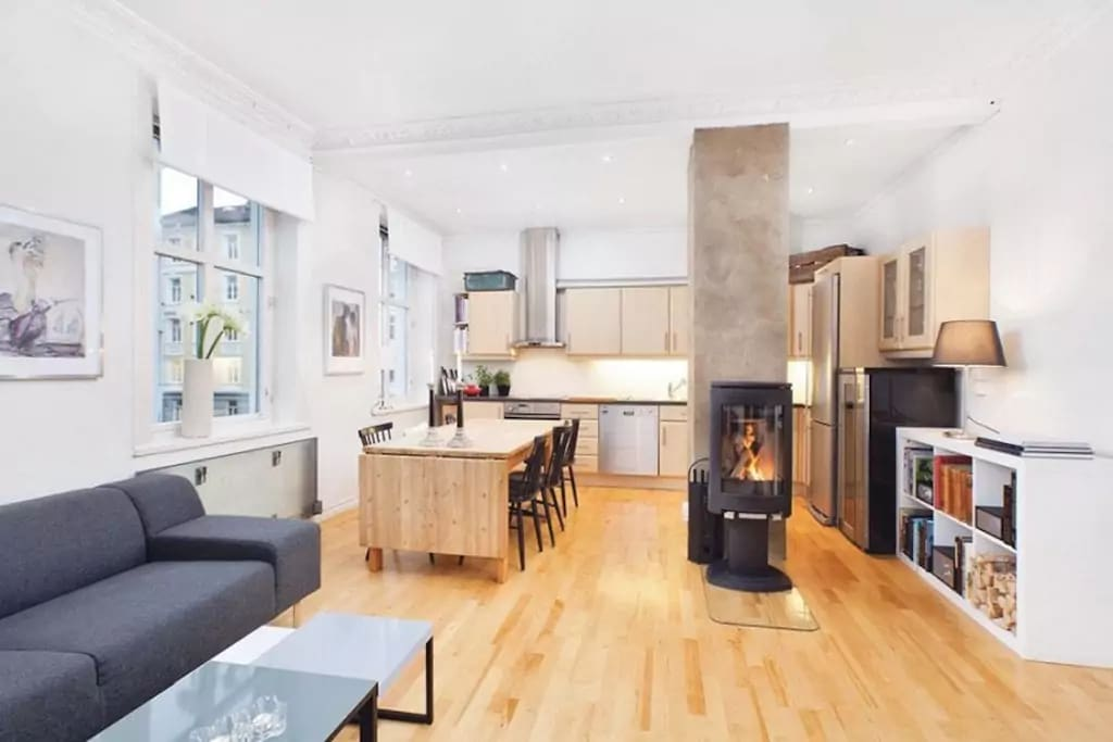 Open plan kitchen and livingroom