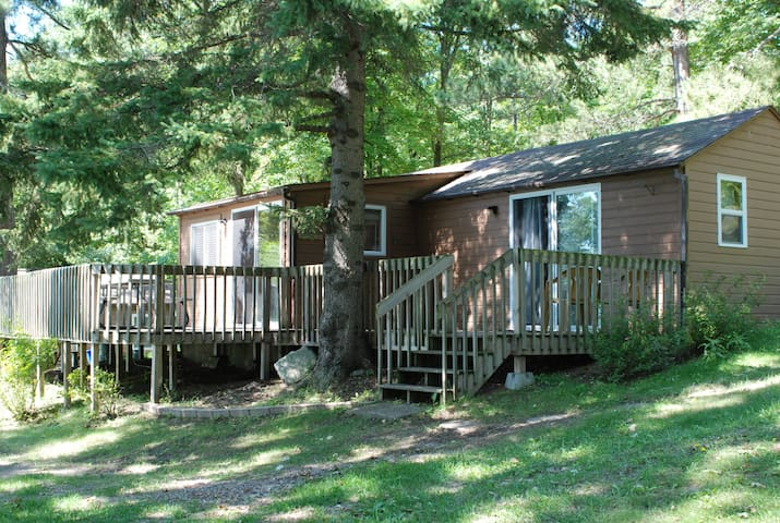2 BR Cabin nestled in the pines on a quiet Lake.