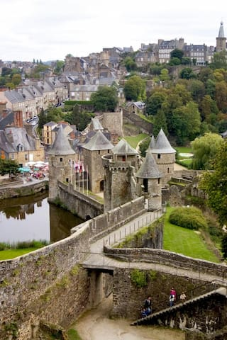 FOUGERES Centre/WIFI/ 50MN Mt St Michel/1H St Malo