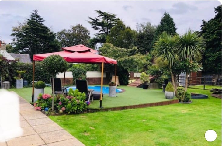 Large family home with private heated outdoor pool