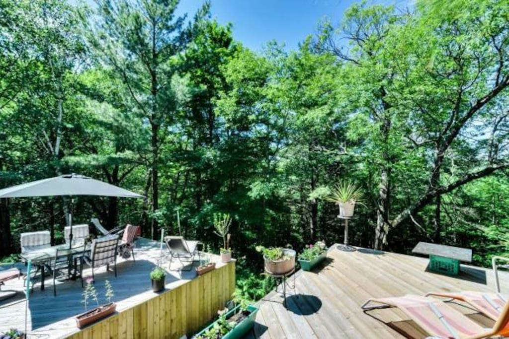 Enjoy the outdoors from the beautiful decks