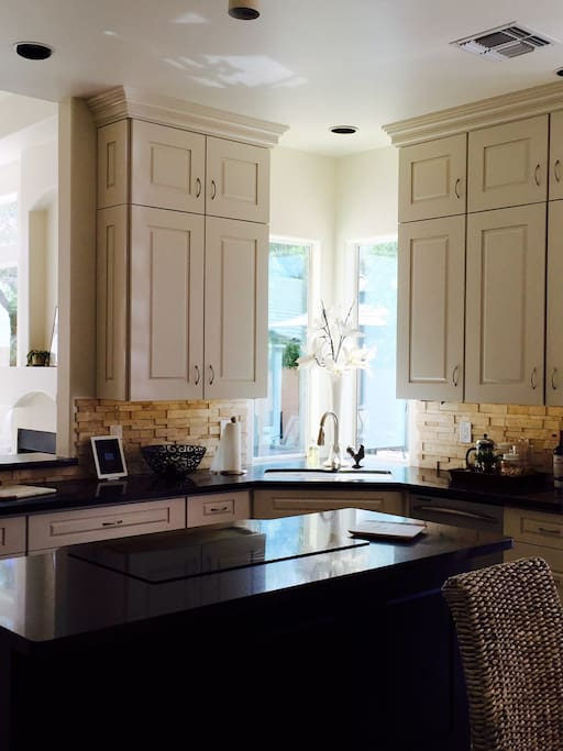 beautiful kitchen with custom cabinets