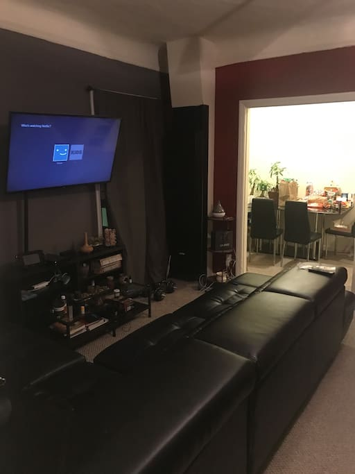 Couch and TV area
