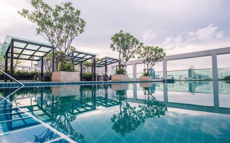 抖音火车夜市全新高品质 New house 1BR pool 免税店RCA Nightclub522