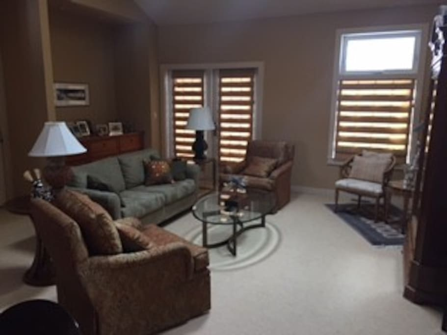 Comfortable living room with great light